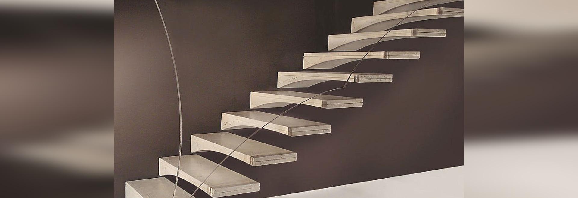 Freitragende Treppe freitragende treppe möwenflügel marretti