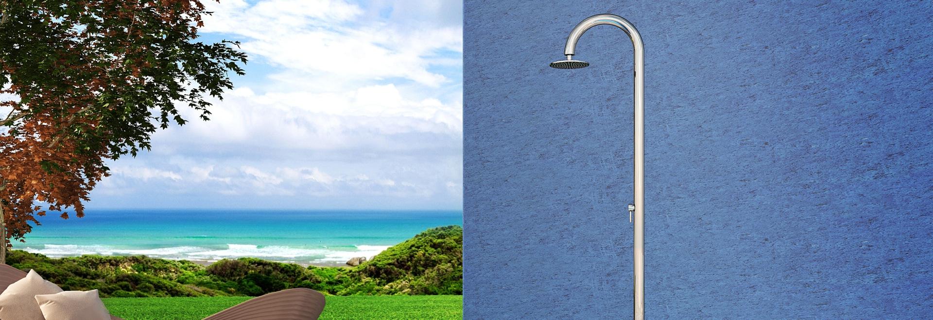 Inoxstyle-Sohle 60 M Beauty - nautischdusche des Edelstahls im Freien für Swimmingpool und Garten