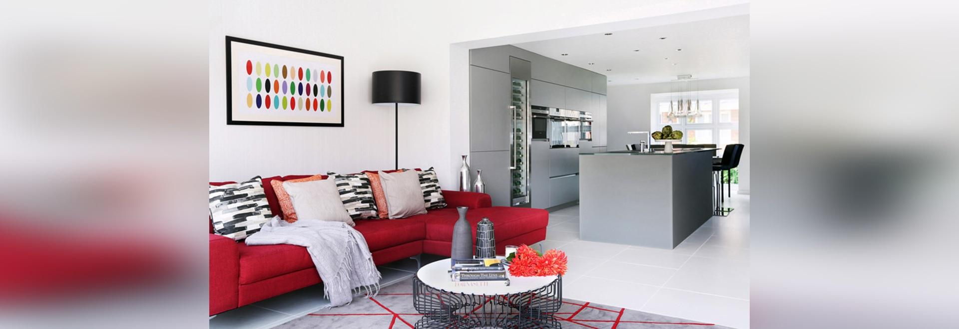 Eine junge britische Familie wünschte ein modernes Haus innen sich ...