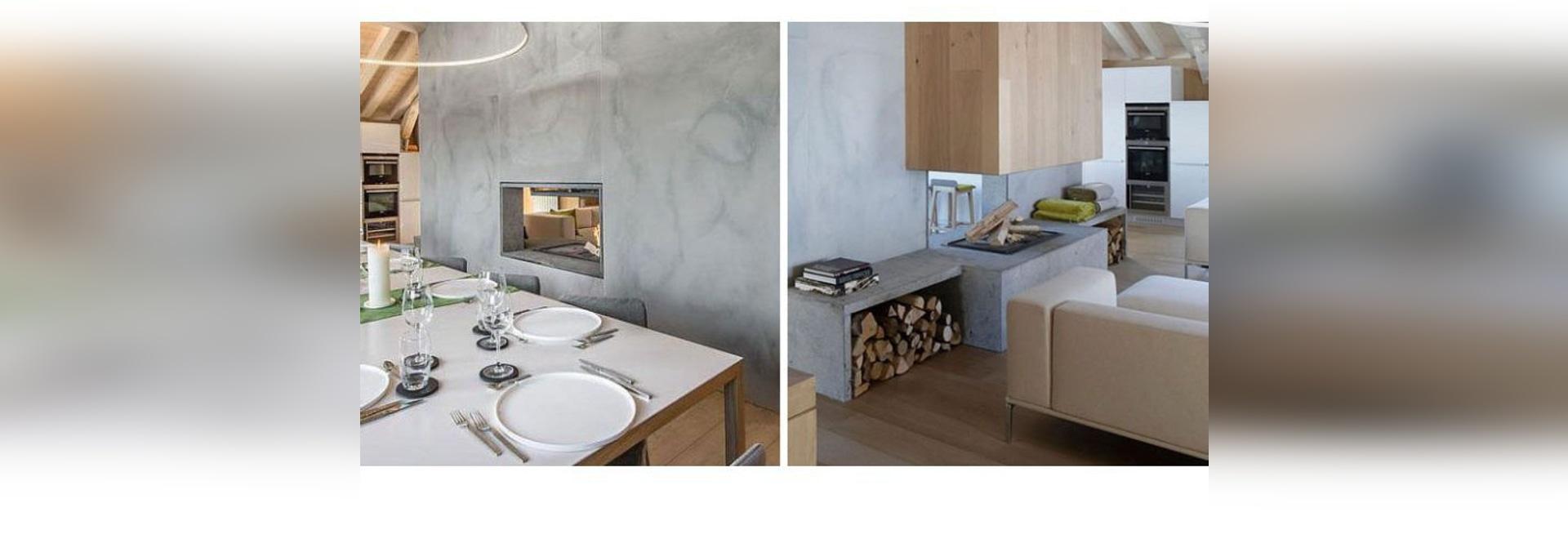 Kamin-Ideen – dieser doppelseitige Kamin trennt das Wohnzimmer und ...