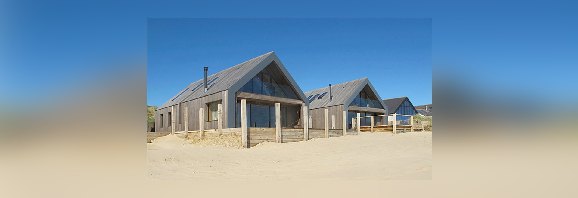Kebonys kommen zeitgenössische Strand-Häuser, Sande zu krümmen - Kebony