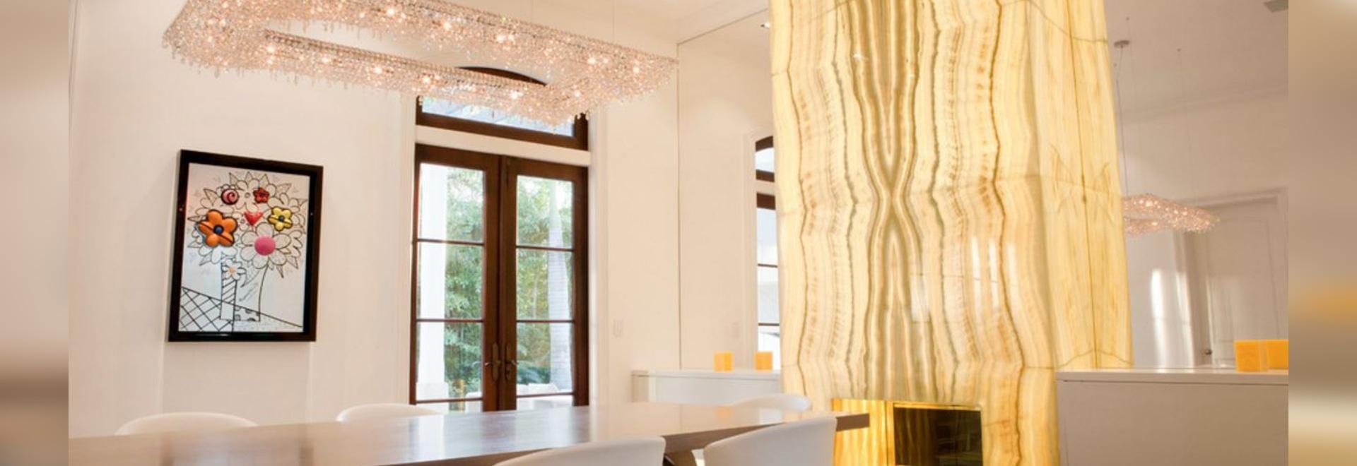 Kristallleuchter Artikoi und des Fjords in einem privaten Wohnsitz