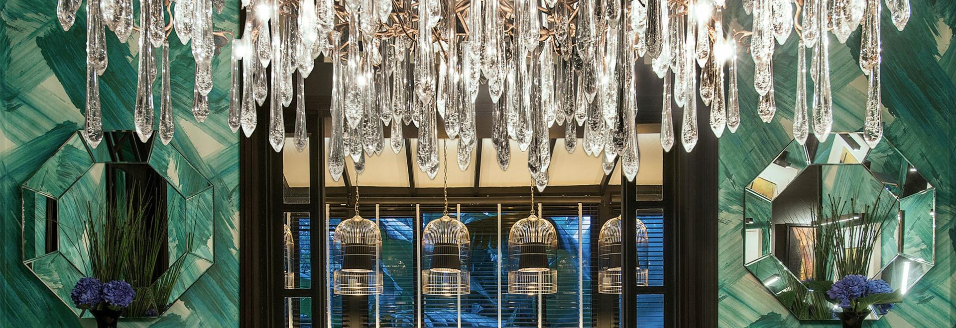 Leuchter Serip Aqua Collection in einem Singapur-Wohnprojekt