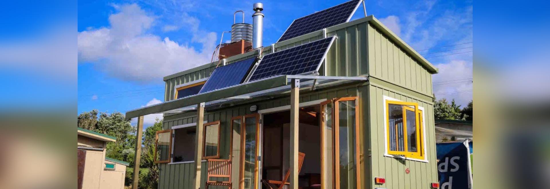 Luxuriöses kleines Haus in Neuseeland ist das Wegrasterfeld und 100 ...