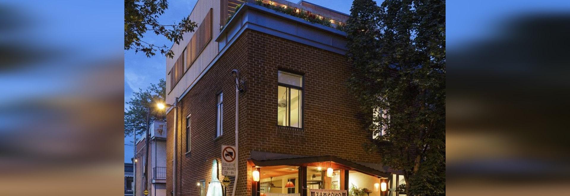 MU-Architektur-Entwurf eine Wohnung über einer Gaststätte - Montreal ...