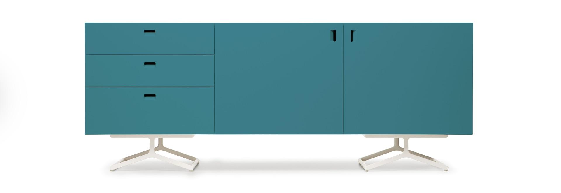 Satelliten-Art L202,5 H78,5 D47 cm - 2 Entwurf Barber Osgerby für Quodes
