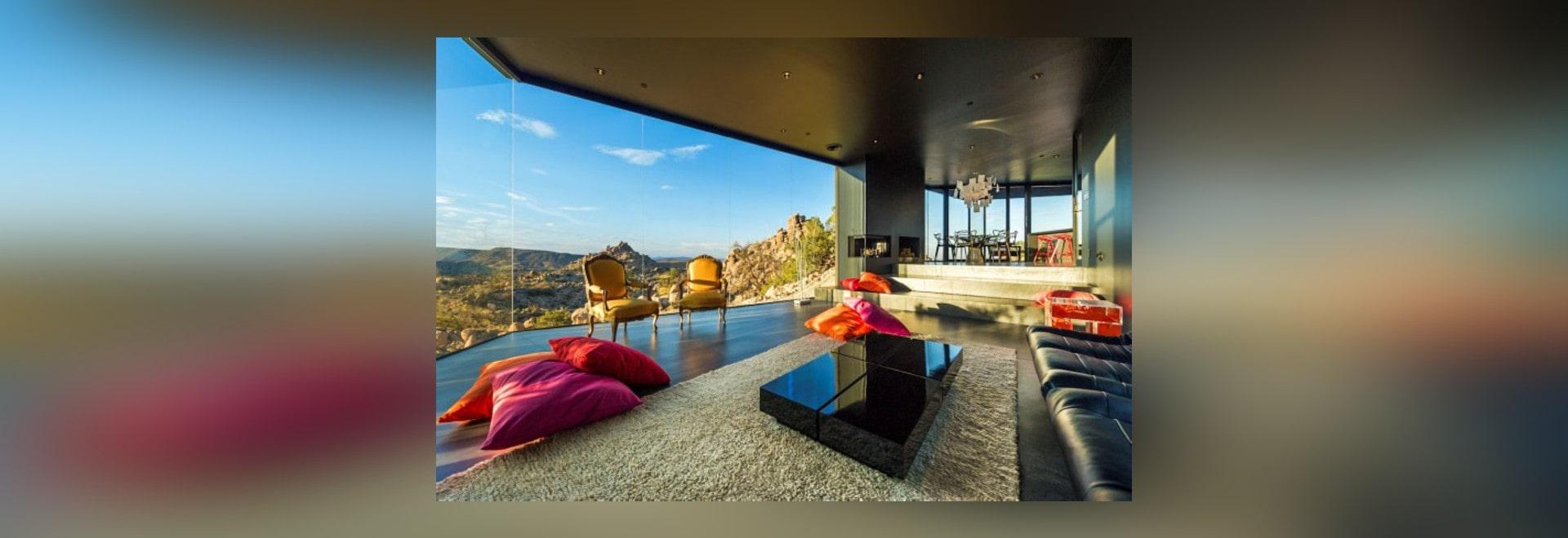 Schwarzes Wüsten Haus Durch Oller U. Pejic Architektur