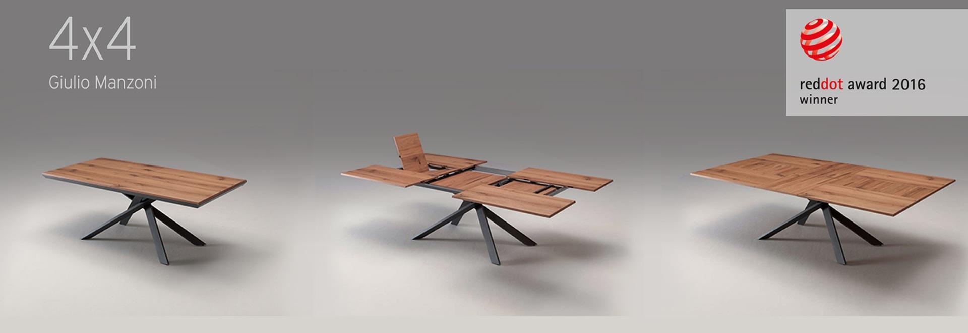 Der Tisch 4x4 Gewinner Von Red Dot Design 2016 Via Brughetti