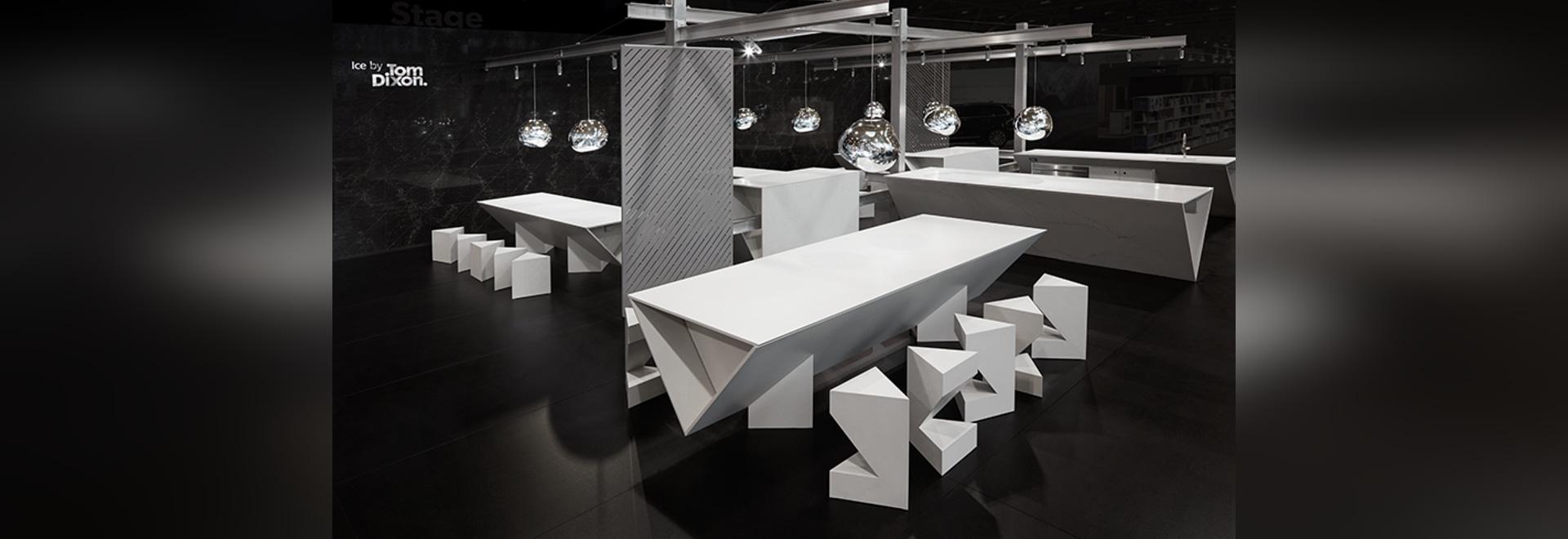 Tom Dixon sculpts EIS-Kücheinstallation für caesarstone an ...