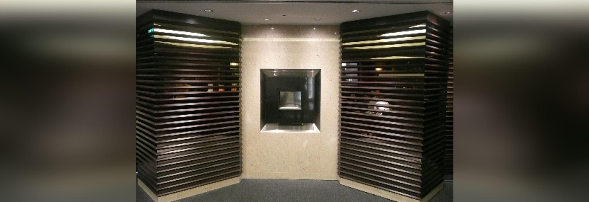 Vertieftes Flueless installierte in Hotel