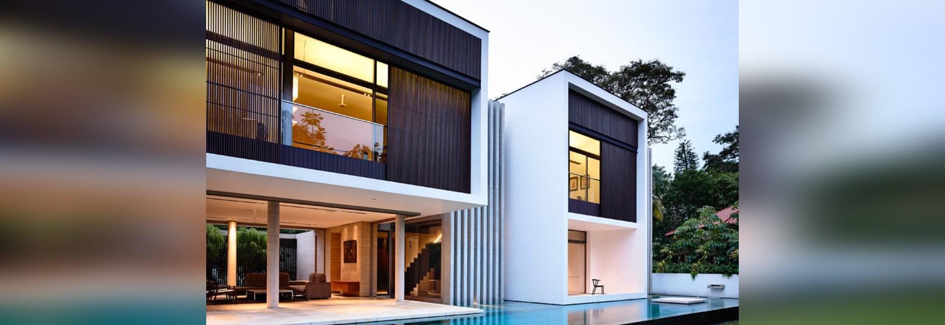 Ein zeitgenössischer Zusatz und gestalten für ein Haus in Singapur ...