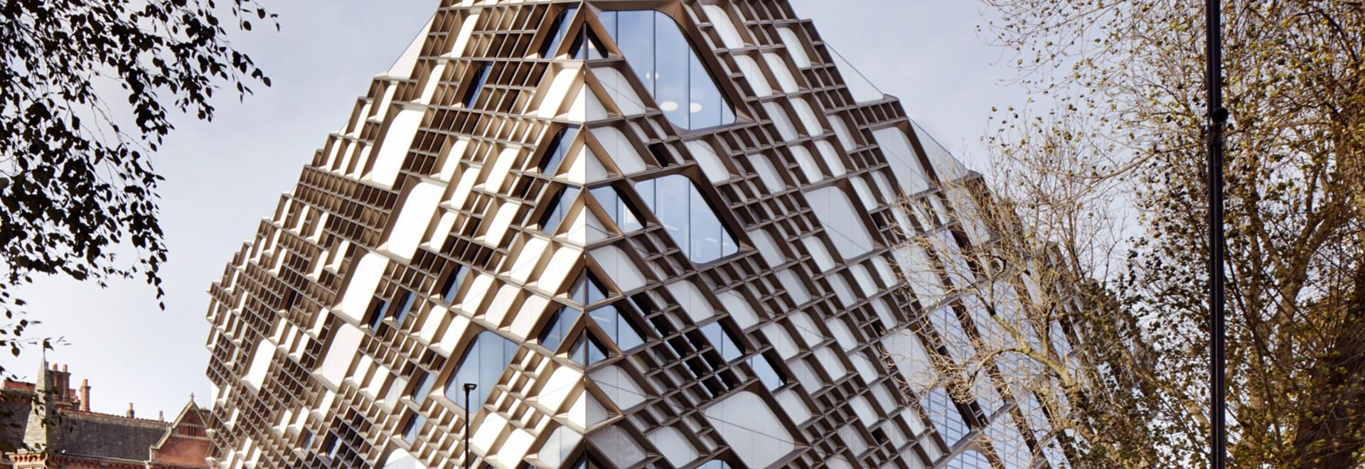 Architektur Fassade zwölf architekten wendet diamant gekopierte fassade am sheffield