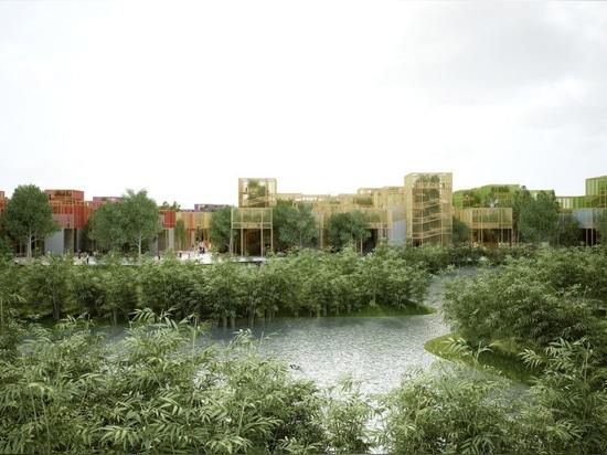 """Penda stellt vorübergehendes Natur-gefülltes """"Dorf"""" für die Peking-Gartenbauausstellung vor"""