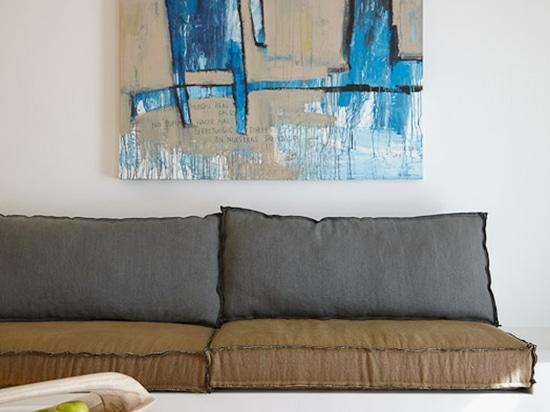 Malerei des großen Formats Hommes-Bleus vom Catman (Raum)