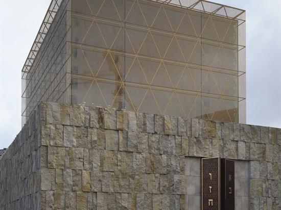 Farbige Masche und Architektur – anodisierte Aluminiummasche
