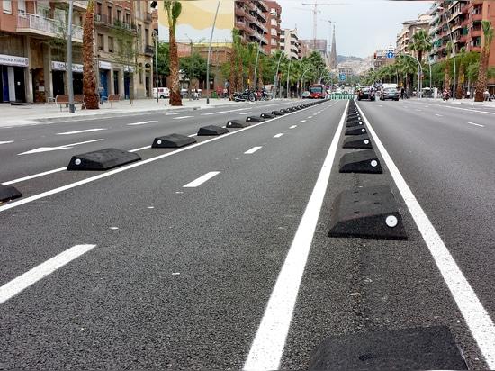 Gummizykluswegverteidiger Barcelona