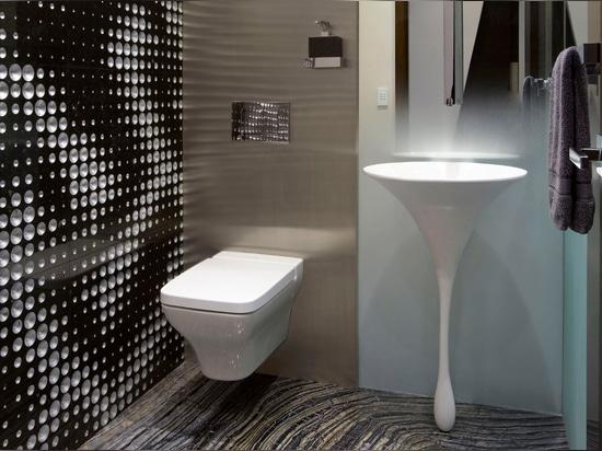 """Das """"Luxus2"""" Wandbeschaffenheit im """"James Bond-Energiezentrale"""" Projekt durch ODP Architetcure und Entwurf."""