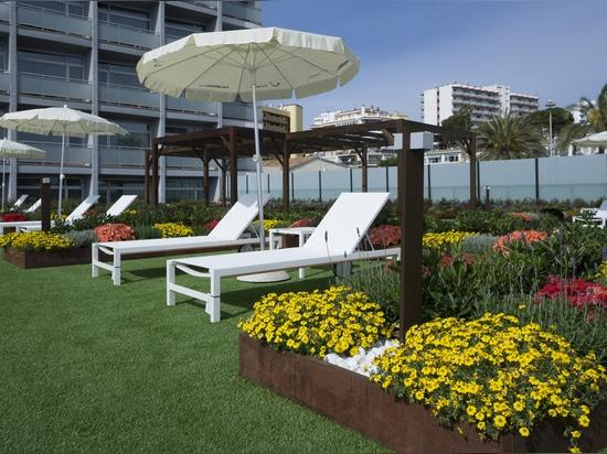 Riviera-Hotelterrassengarten