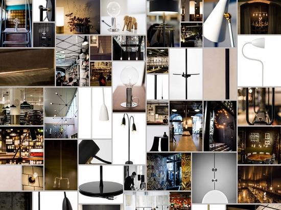 Eine Collage von RUBN-Beleuchtungsprodukten.