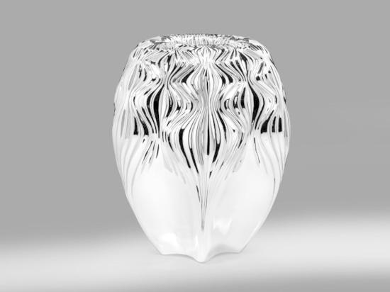 Vase durch Zaha Hadid für Atelier Courbet. Höflichkeit des Studios.