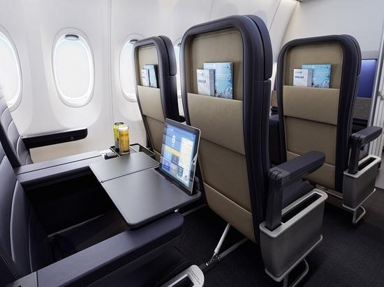 United Airlines-erste Klasse. Höflichkeit von PriestmanGoode