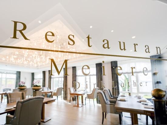 Köstliche Aqua Chandelier im Restaurant von ändern Meierhof Vitalhotel