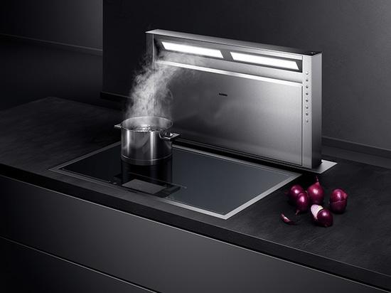 Flexinduktion cooktop mit integrierter Lüftungsanlage von Gaggenau