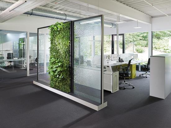 Klima-Büro – Räume mit Wasser und grünen Wänden führen zu gesündere Arbeitskräfte