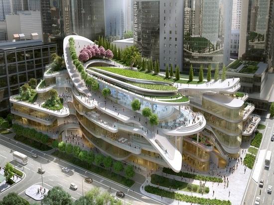 Peking-Einkaufszentrum entworfen von Andrew Bromberg. Höflichkeit von Andrew Bromberg bei Aedas