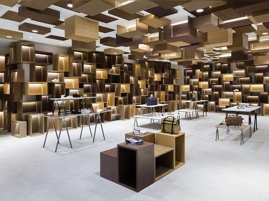 Eins der dreizehn curated Kleinräume durch Nendo im Siam Discovery-Einkaufszentrum. Foto: Takumi Ota