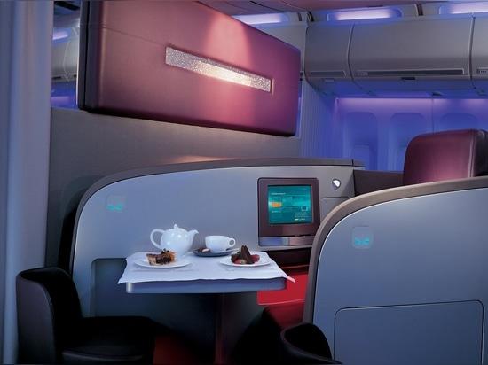 Sitzplätze Virgin Atlantic-oberer Klasse durch PearsonLloyd