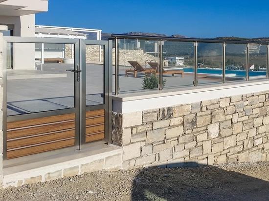 Ferienhaus angesichts des libyschen Meeres.