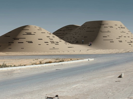 hajizadeh u. der Mitarbeiter Komplex in der Iran-Mischen mit der Umwelt, die Sanddünen ähnelt