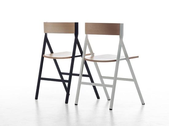 Der von Steffen Kehrle entworfene Klappstuhl setzt auf Innovation, Qualität, Rigorosität und Zuverlässigkeit.