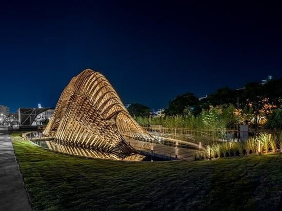 ZUO-Studio konstruiert den 'Bambuspavillon', um die Naturschönheit von Taiwan auszudrücken
