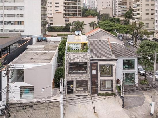 debaixo tun bloco abschließt são Paulo-Kunstgalerie mit Fassade von Vorgußbetonblöcken