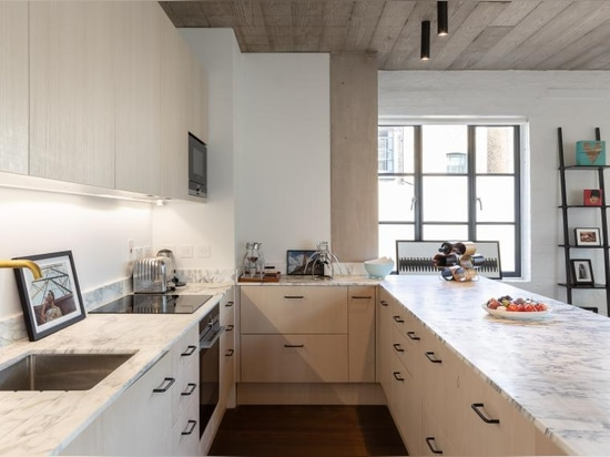 Chris Dyson wandelt vernachlässigte Ost-London-Werkstatt in moderne Dachbodenwohnungen um