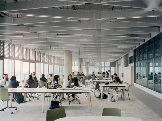 Nationale Universität von Singapurs SDE4-Gebäude ist ein Prototyp des stützbaren Entwurfs