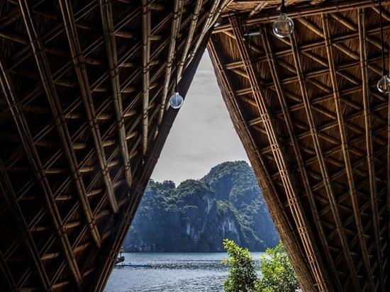 Besetzt Bambuserholungsort 'der schiffbrüchigen Insel' VTN-Architekten leicht ein vietnamesisches Inselufer