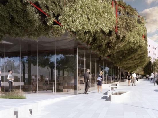 Grünes Raumschiff: Vegetationsbibliothek zum Landen in Madrids Villaverde