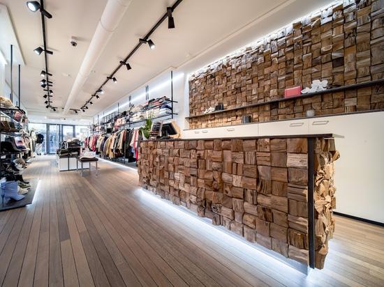 Projekt mit dem Design Qubow von Teakwall Recycling Holz