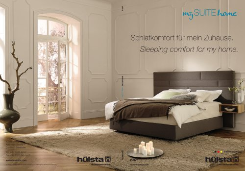 MY SUITE HOME / BOXSPRING - hülsta - PDF Katalog | Beschreibung ...