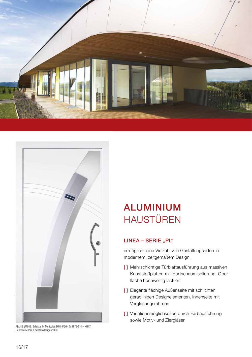 ALUMINIUM HAUSTÜREN - Internorm - PDF Katalog | Beschreibung | Prospekt