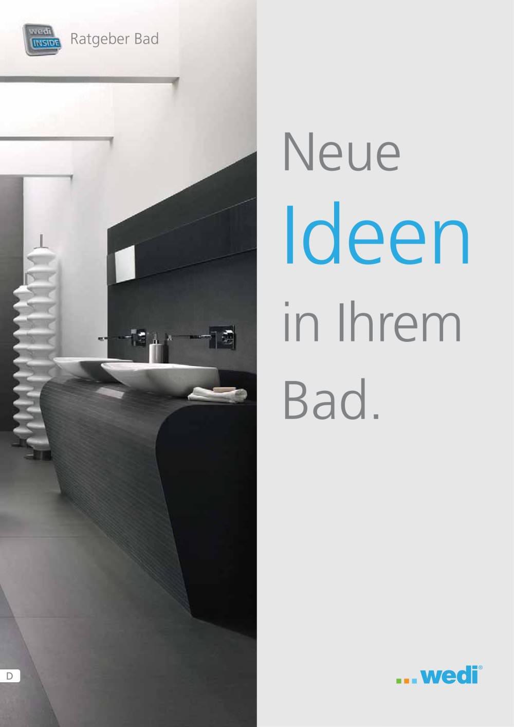 Ratgeber Bad - wedi GmbH - PDF Katalog | Beschreibung | Prospekt