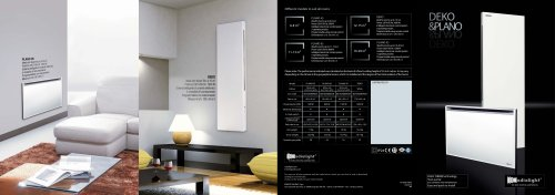 Catalogue 2010 Radialight PLANO and DEKO electric radiators