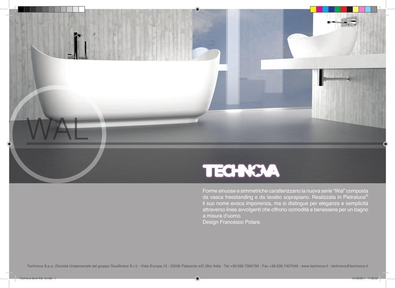 Vasca Da Bagno Freestanding Misure : Wal vasca da bagno e lavabi da appoggio in pietraluce technova