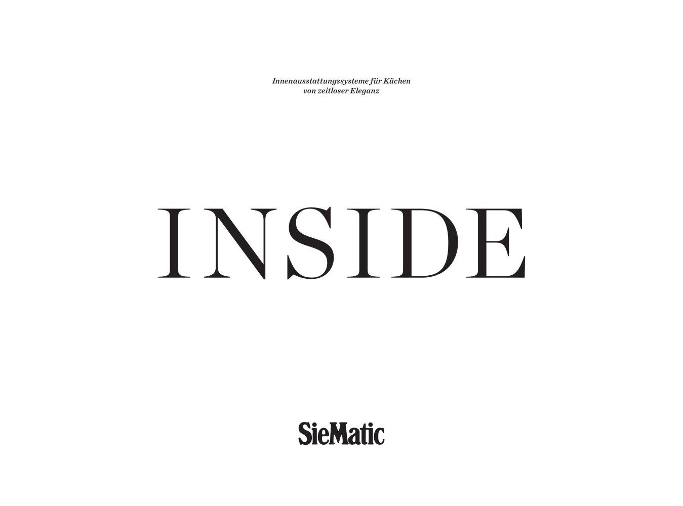 Inside - SIEMATIC - PDF Katalog   Beschreibung   Prospekt