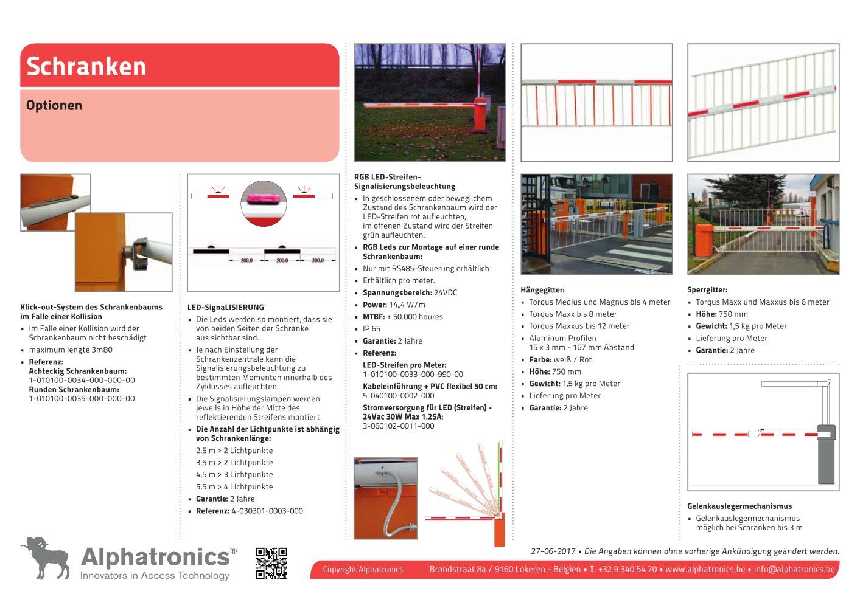 Schranken-Auflagepfahl - Alphatronics - PDF Katalog | Beschreibung ...