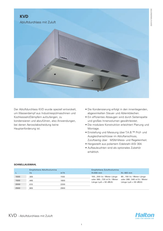 HATLON-KVD - HALTON - PDF Katalog | Beschreibung | Prospekt