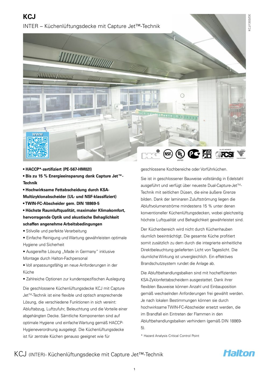KCJ - HALTON - PDF Katalog   Beschreibung   Prospekt